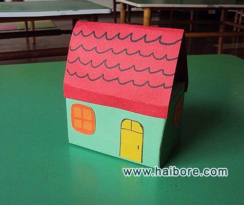 纸盒房子手工制作方法